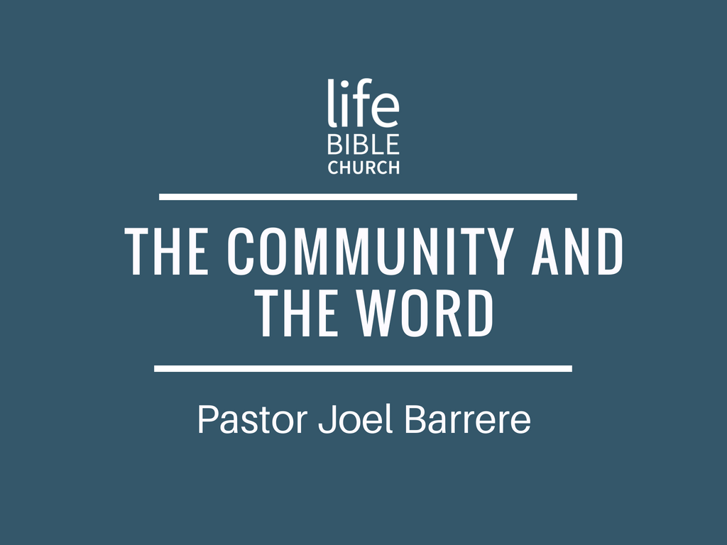 The Community and the Word Image