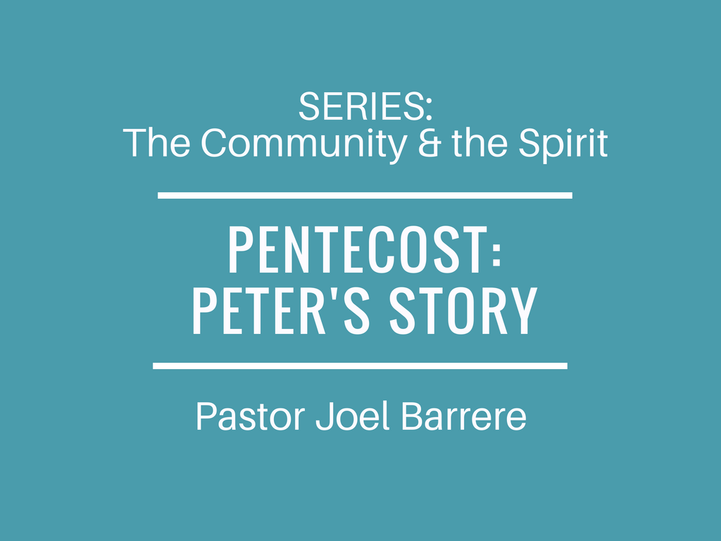 The Community and the Spirit: Pentecost: Peter's Story Image
