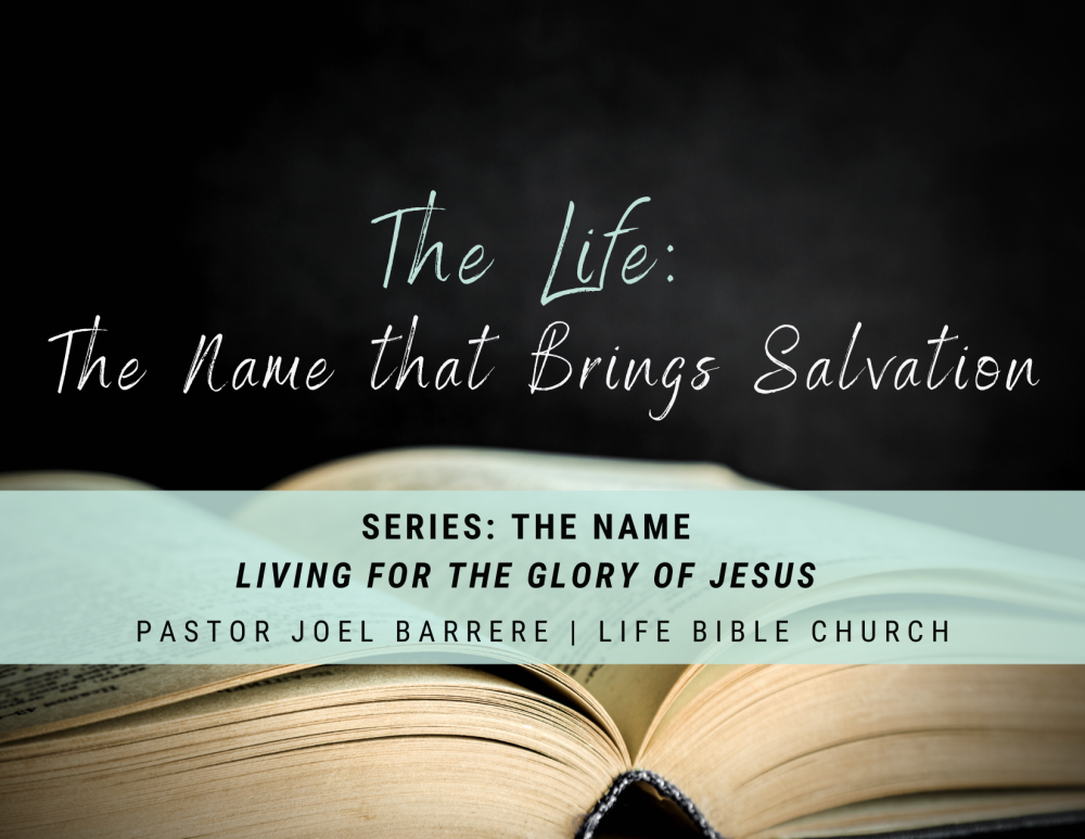 The Life: The Name the Brings Salvation Image