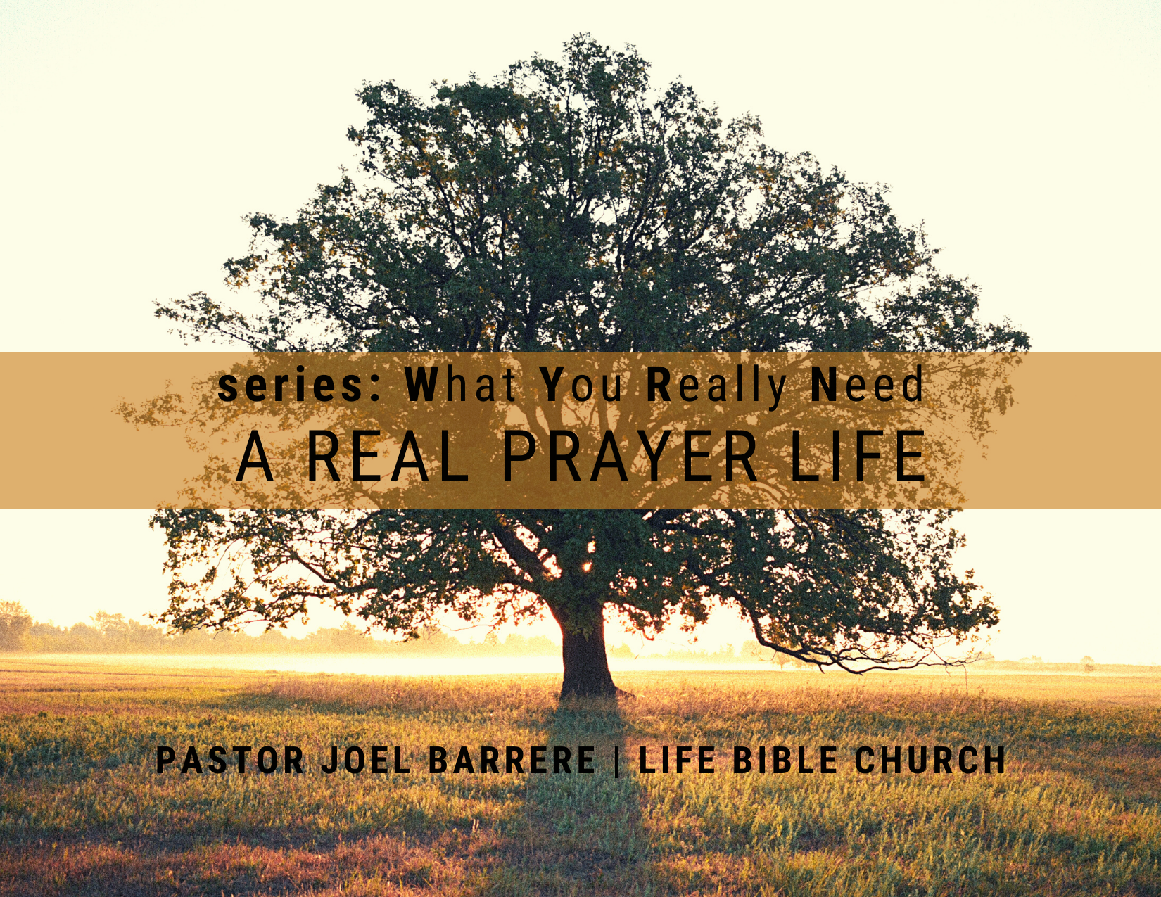 A Real Prayer Life Image
