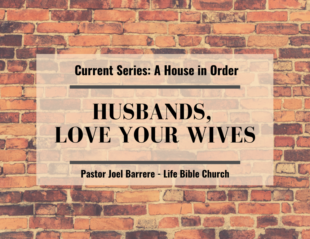 Husbands, Love Your Wives