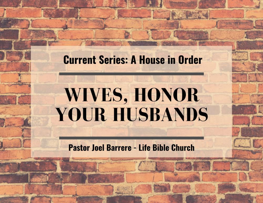 Wives, Honor Your Husbands Image